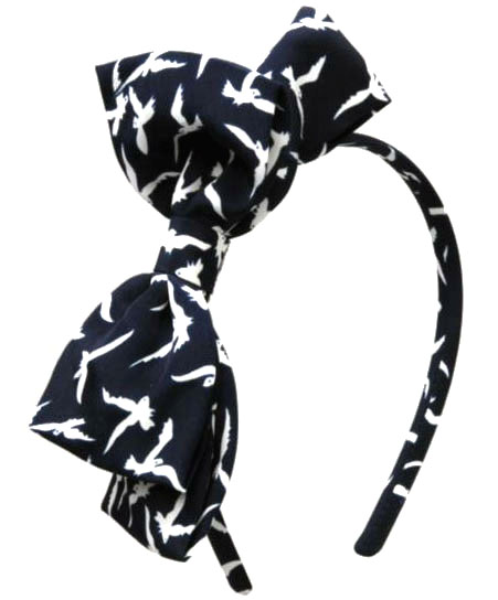 Bow bird headband