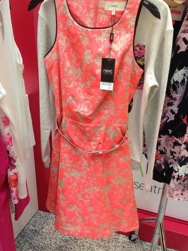 Neon floral dress