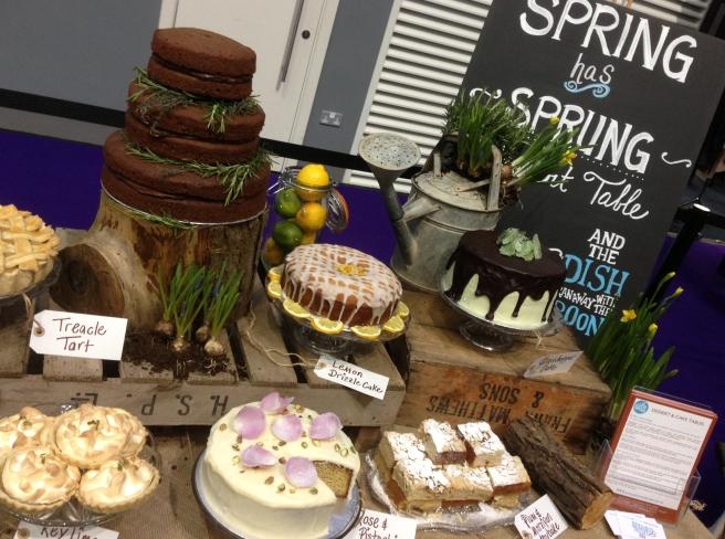 English garden dessert table