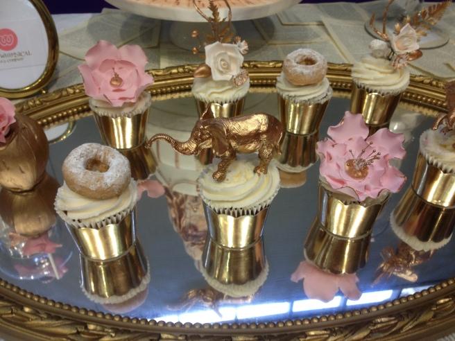 Vintage rose dessert table