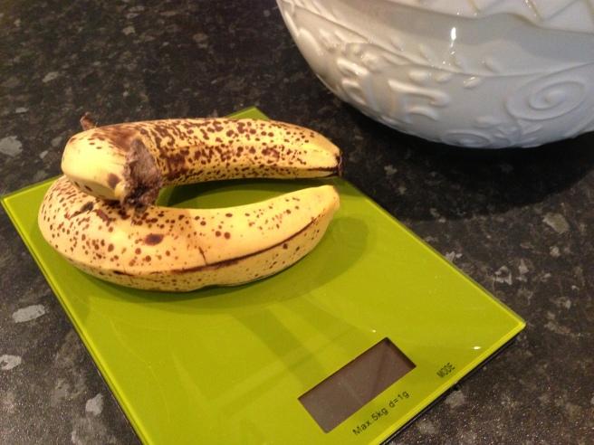 Baking with overripe banana