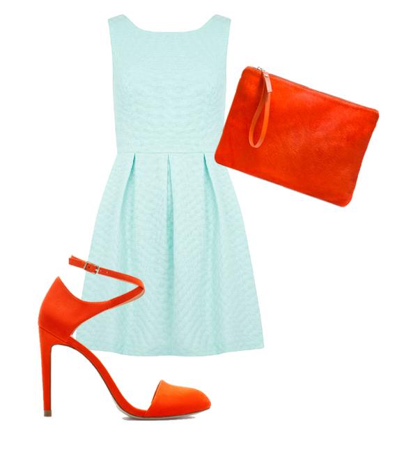 summer wedding blue and orange