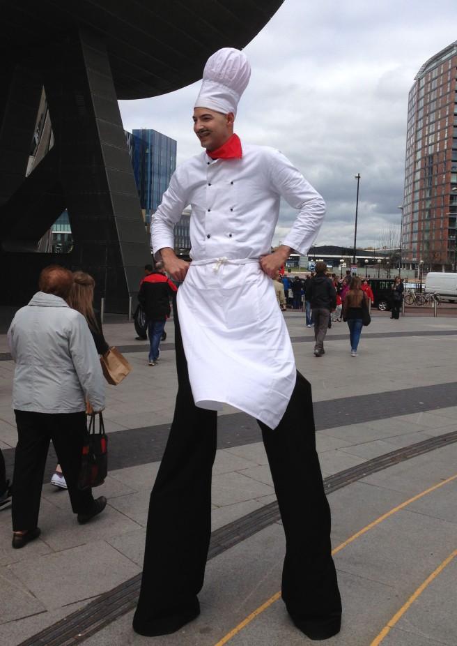 Giant chef