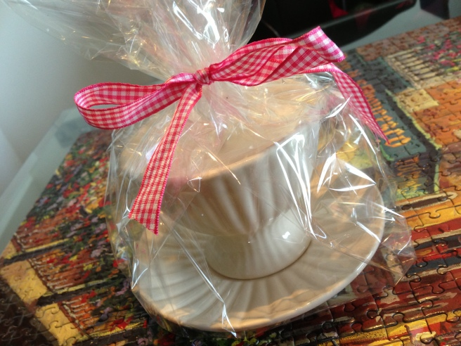 tea cup candle gift