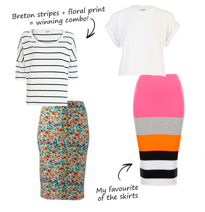 Jersey pencil skirt outfits