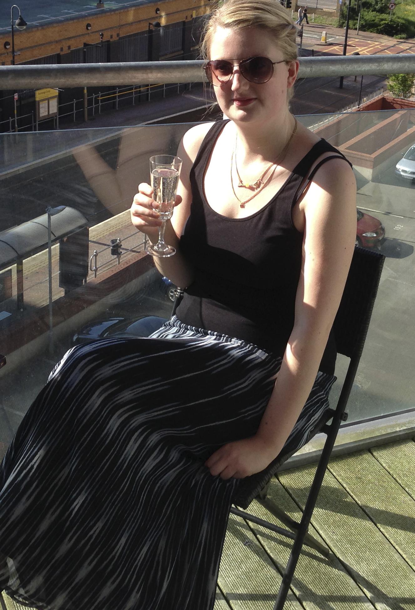 Prosecco on balcony