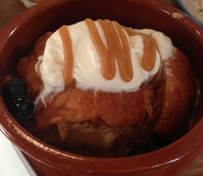 Doughnut butter pudding