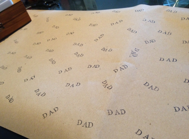 Hand made wrapping paper