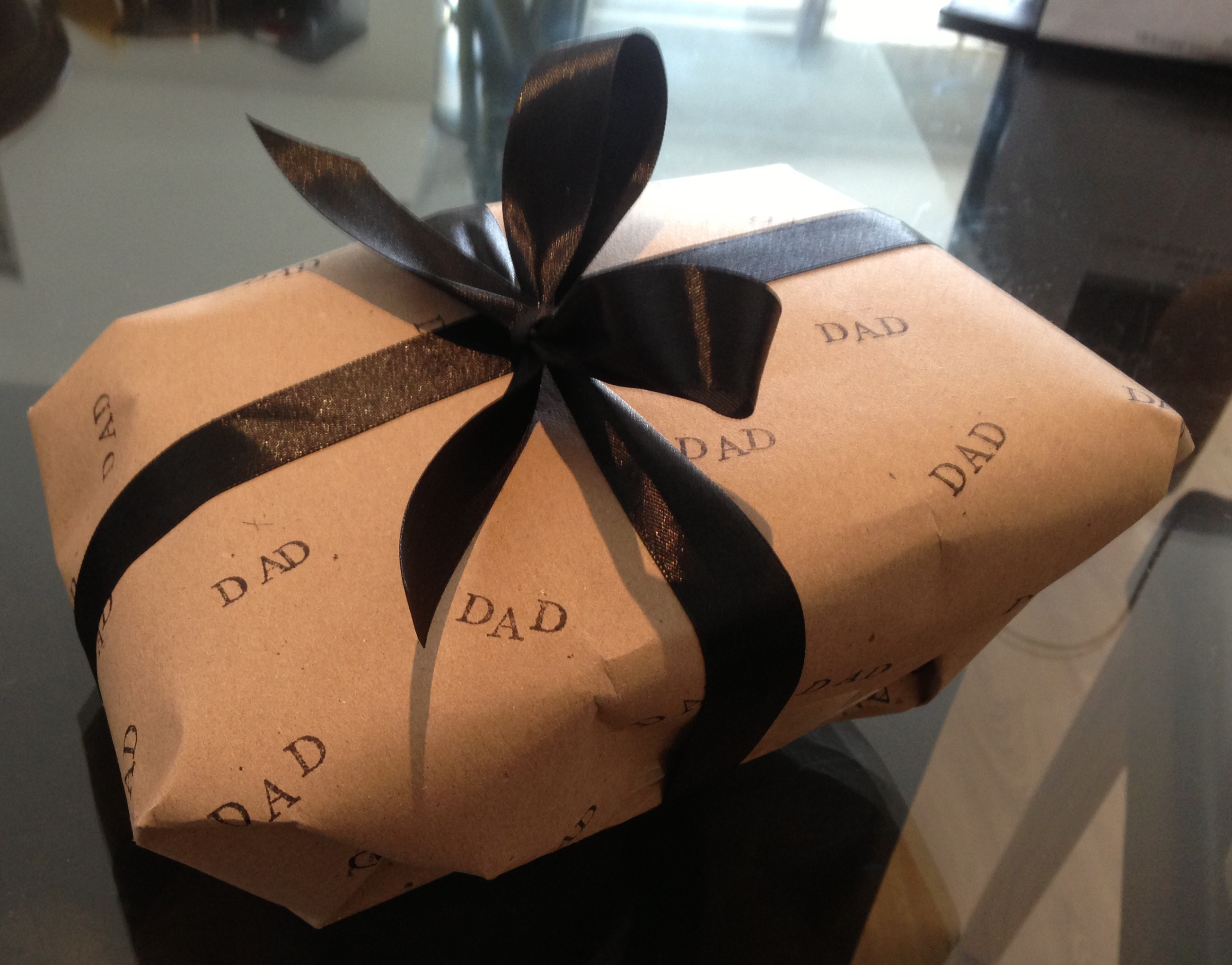 Home made gift wrap