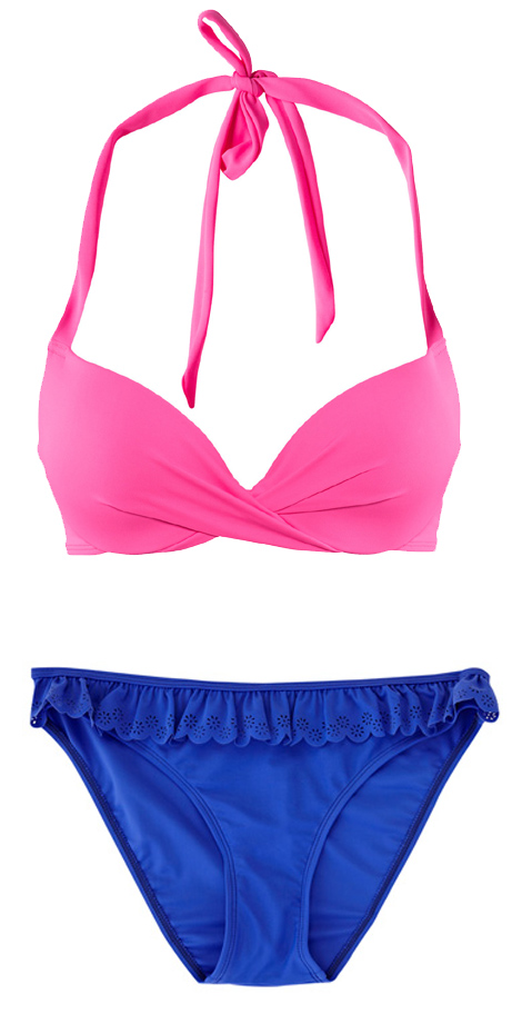 colour block bikini