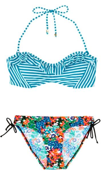 Print clash bikini