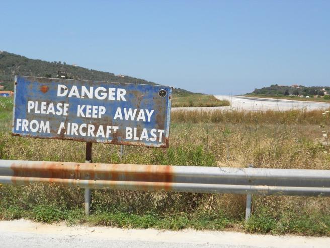 Skiathos runway