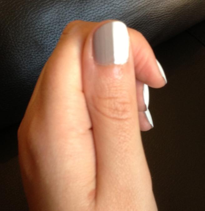 white grey nail art