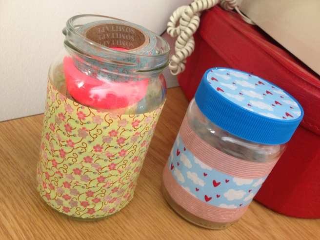 Washi tape jar storage
