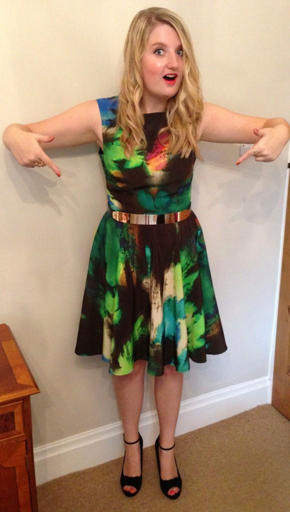 My cosmic print dress