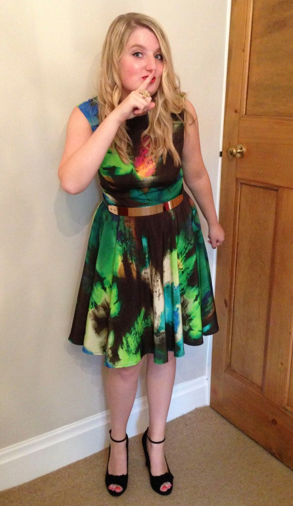 Bold colour dress