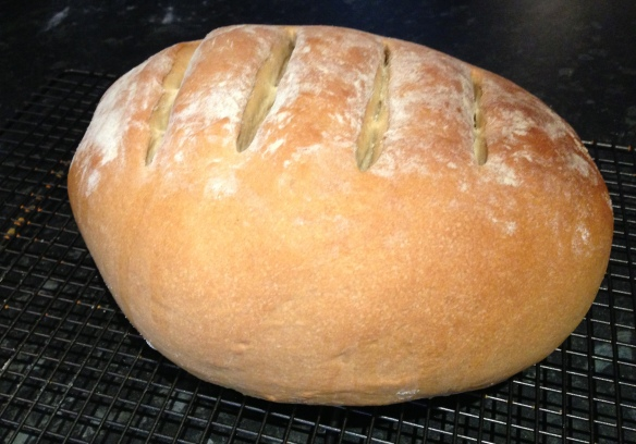 Homemade bloomer loaf