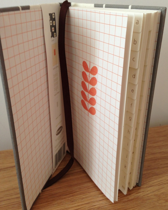 Grey Orla Kiely address book