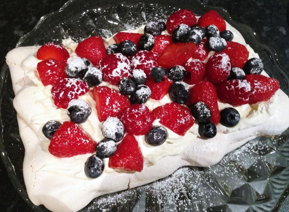 Summer Fruits Pavlova