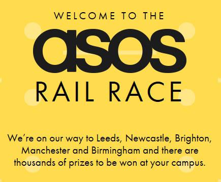asos student rail race