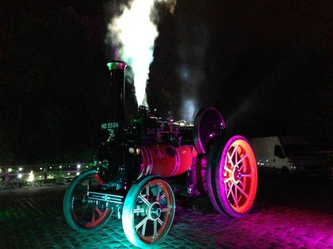 Light Night steam train