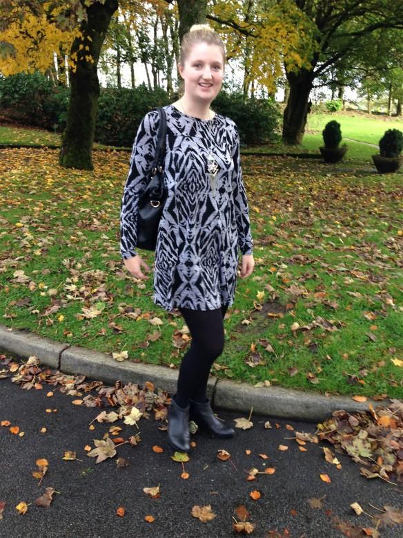 silver autumn dress