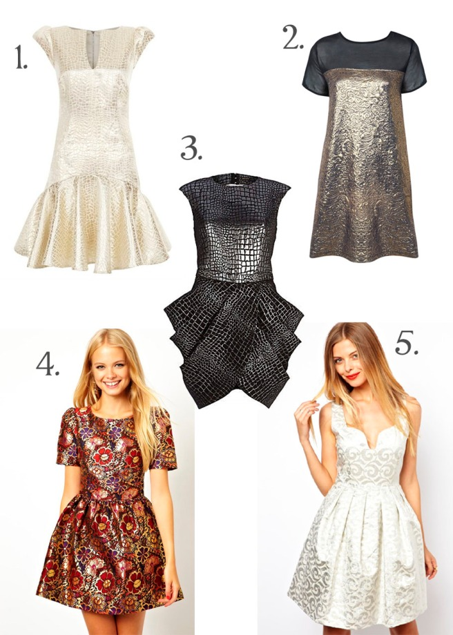 metallic party dresses