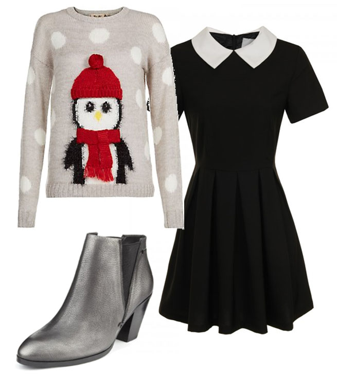 novelty knit outfit