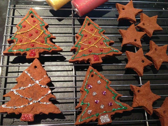 homemade gingerbread decorations