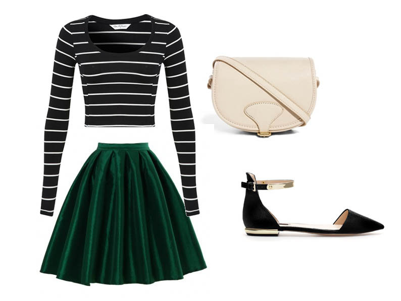 Ways to wear: shiny A-line midi skirt – English Rose from ...
