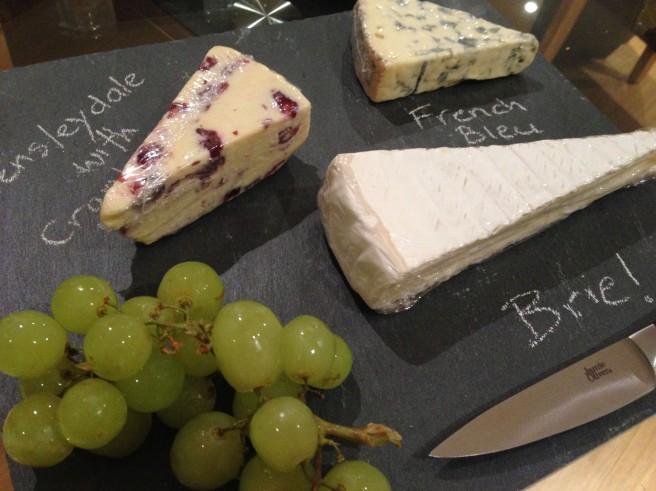 Chalk board cheese board
