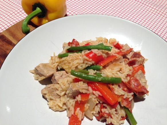 healthy pork and rice dish