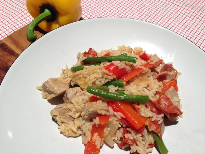 healthy pork and rice dish