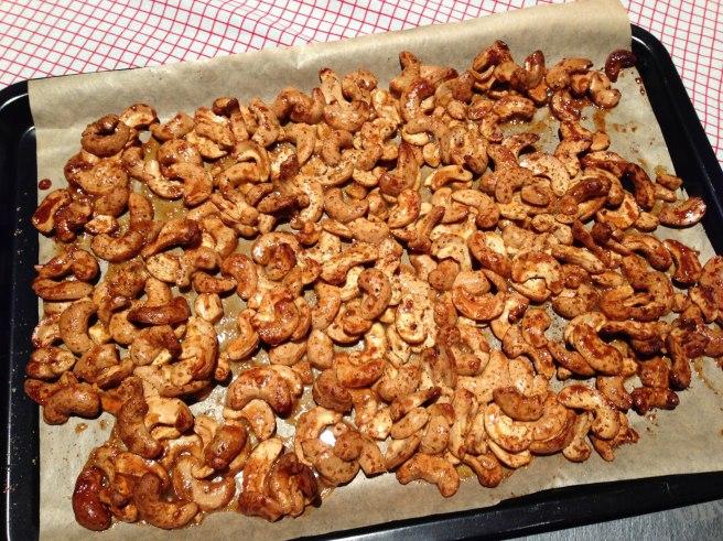 Spicy honey roasted cashews