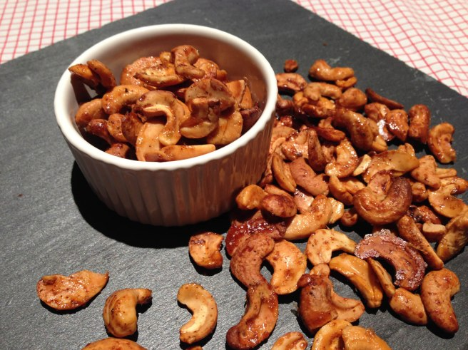 Spicy honey cayenne cashew recipe