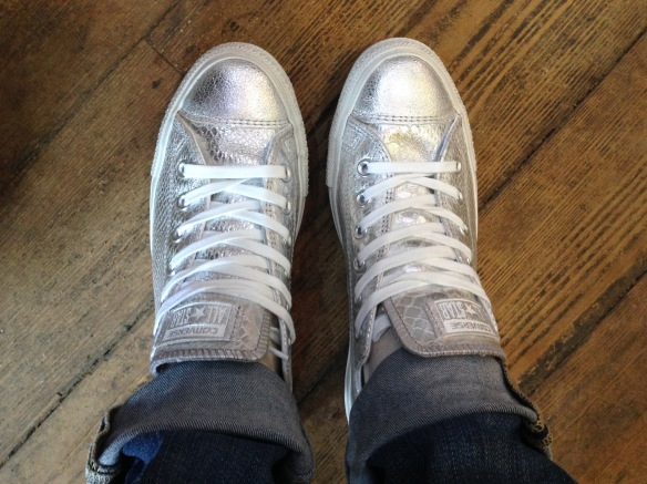 Silver converse