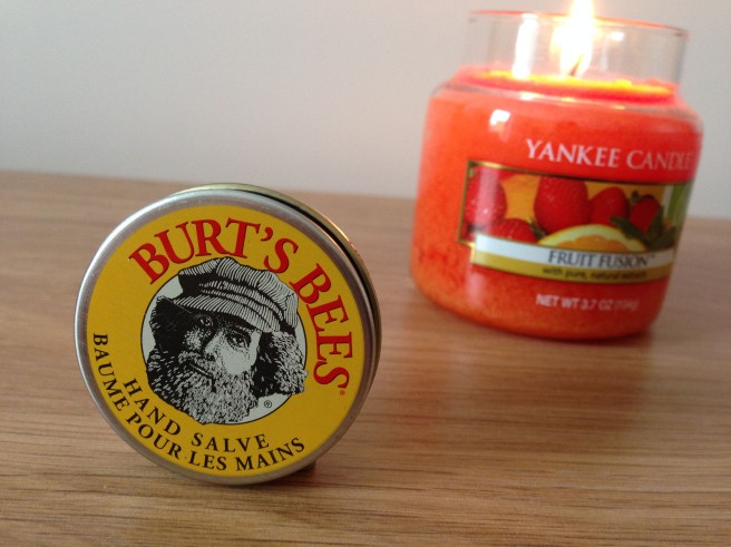 Burts Bees hand salve