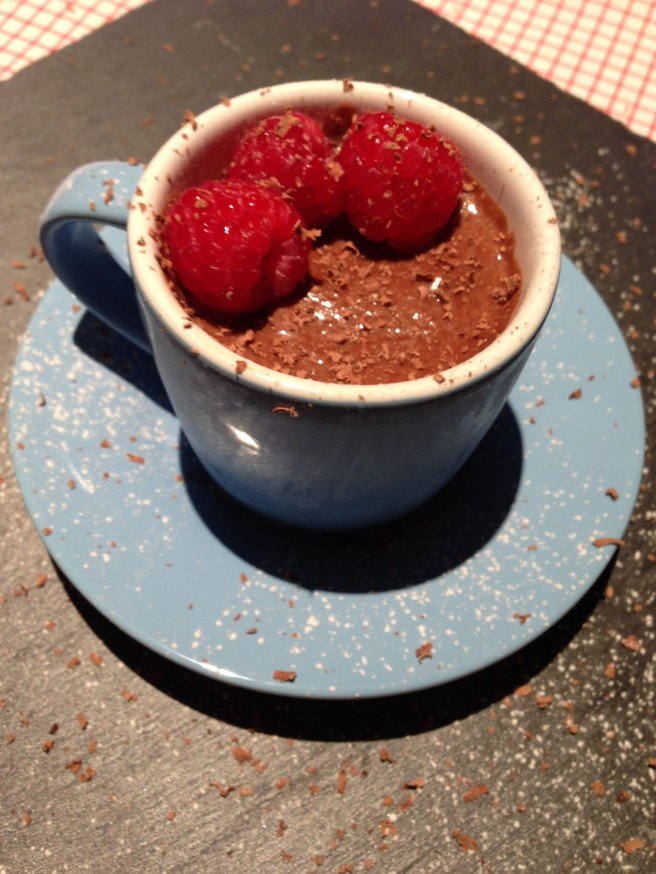 homemade chocolate mousse