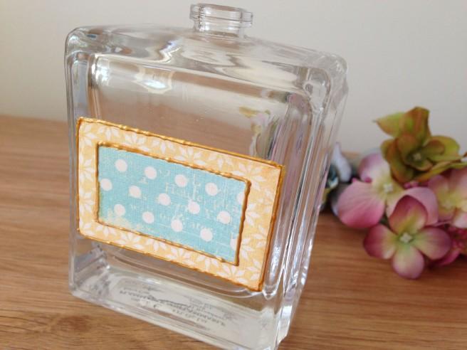Upcycled perfume bottle