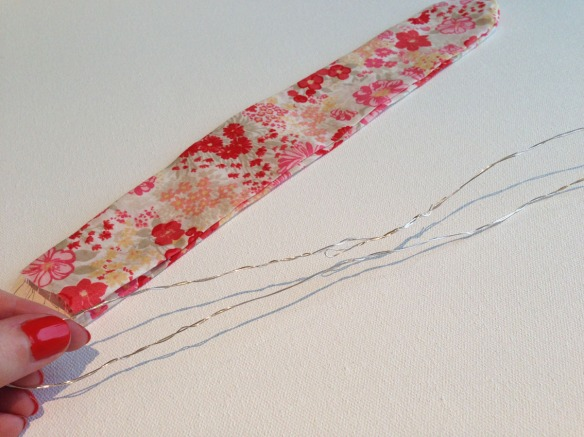 fabric hair tie with wire