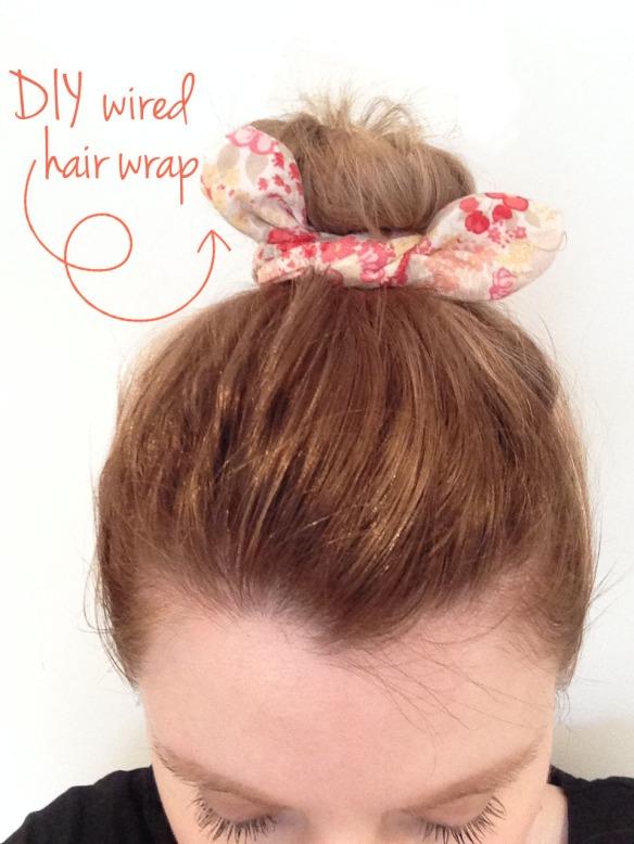 DIY wire hair wrap