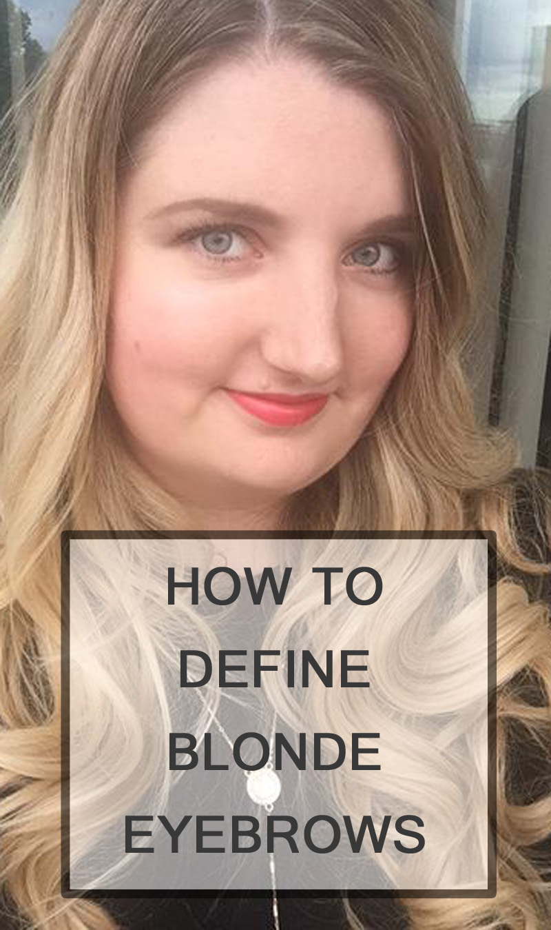 How to define blonde eyebrows