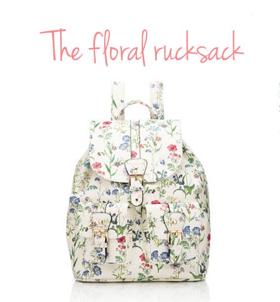 floral rucksack