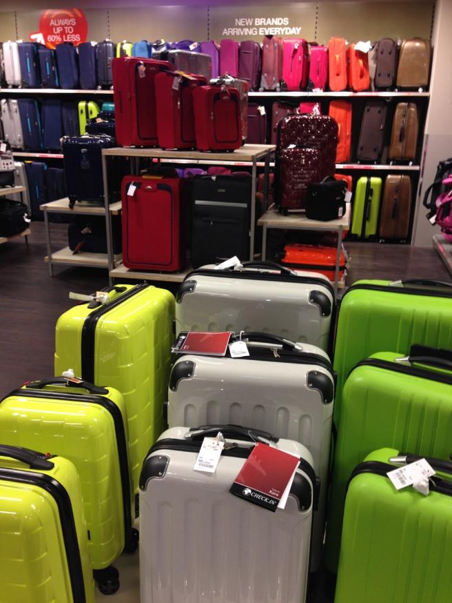TK Maxx suitcases