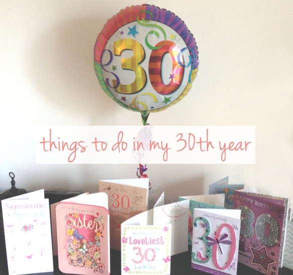 30th birthday to do list