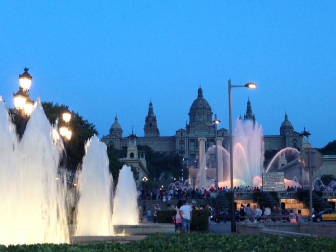 Montjuic magic fountain