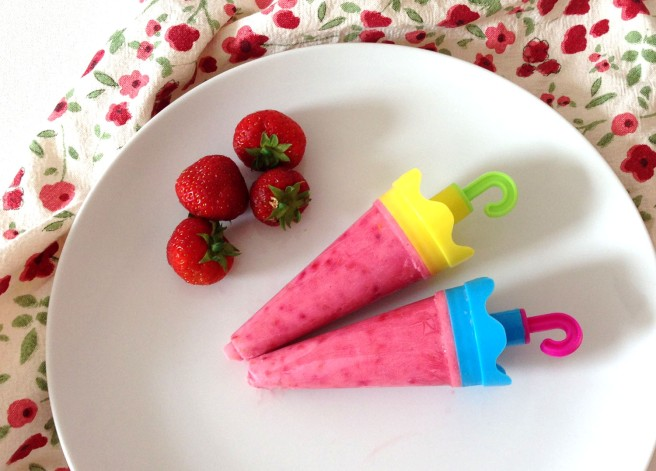summer berry ice lollies