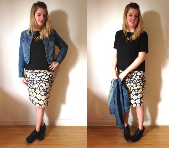 daisy print outfit
