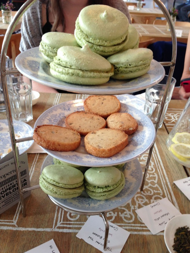 green tea macaroons