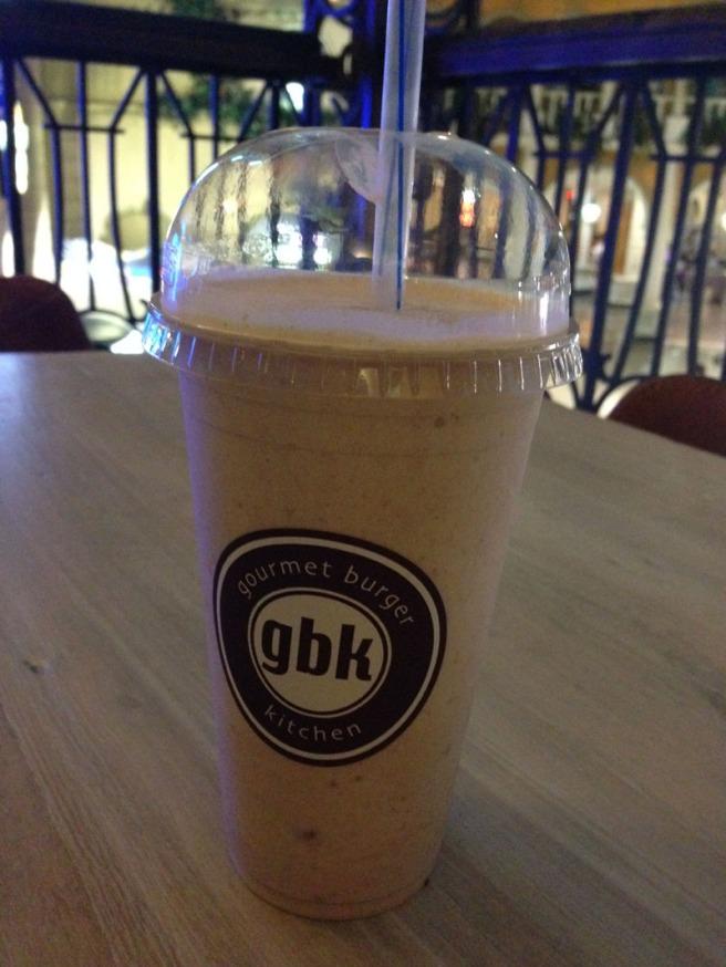 GBK peanut butter milkshake